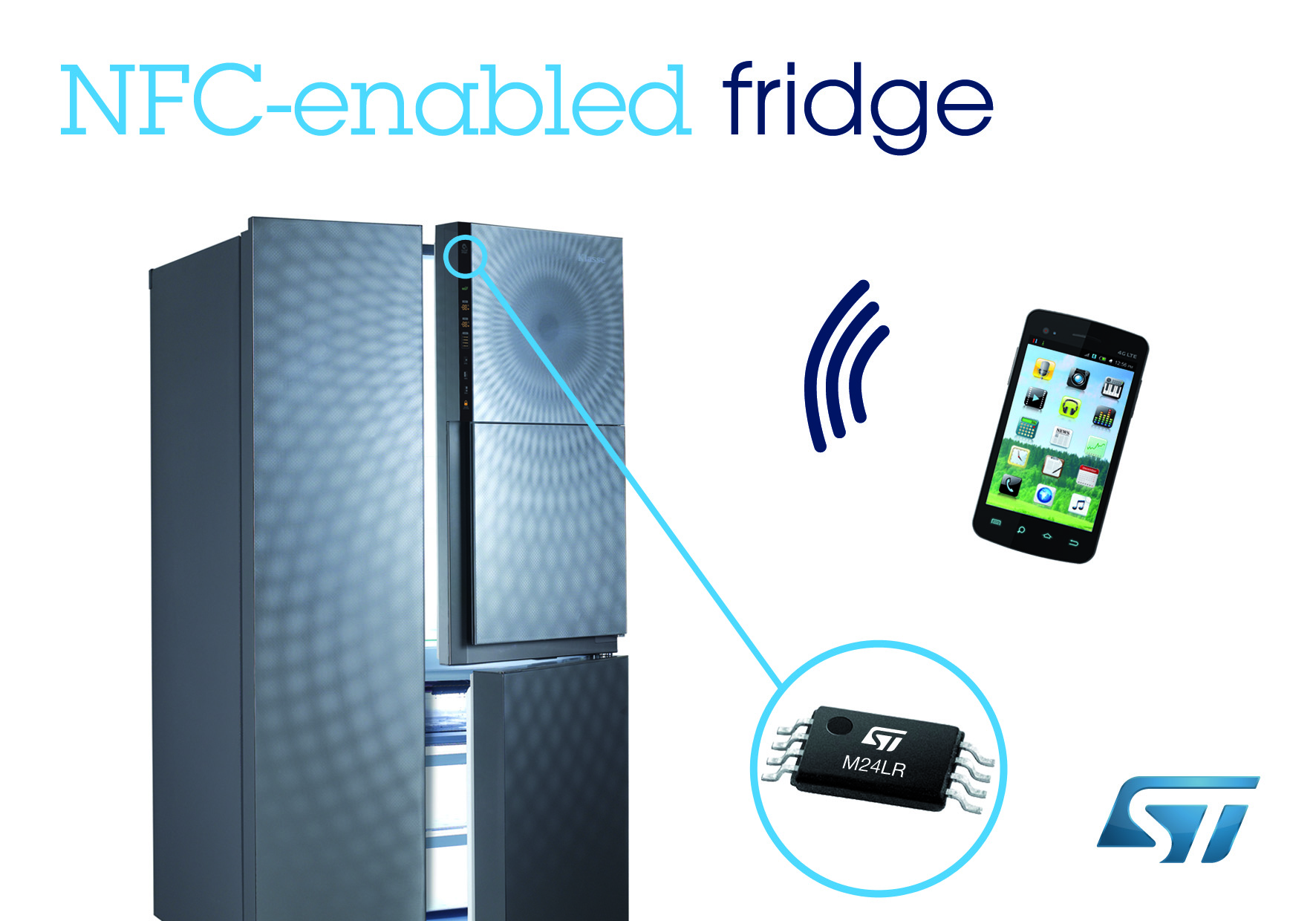 Korea's First NFC Fridge powered by STMicroelectronics Contactless Memory