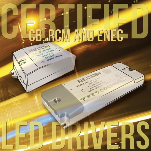 Recom LED Drivers are Now RCM Certified