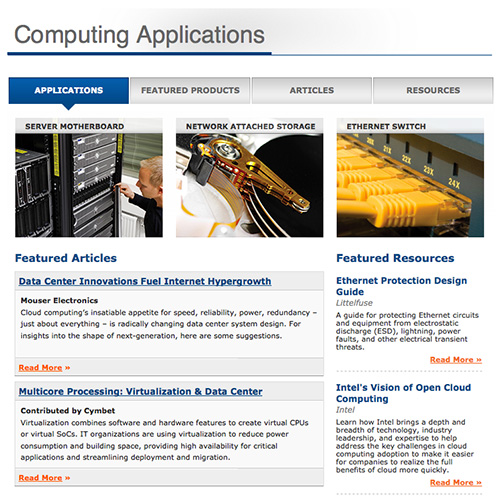 Mouser Expands its Applications & Technologies Sites for Engineers