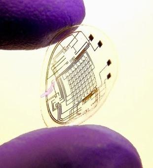 LED Contact Lens cornea circuit wireless technology