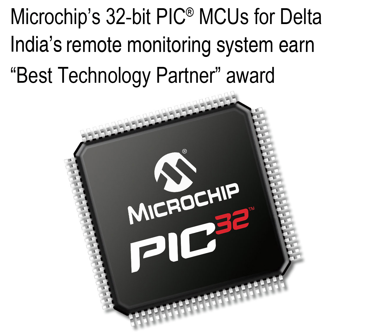 Microchip named Best Technology Partner 2013 by Delta India, For Co-Developing Industry-First Telecom Monitoring System in India