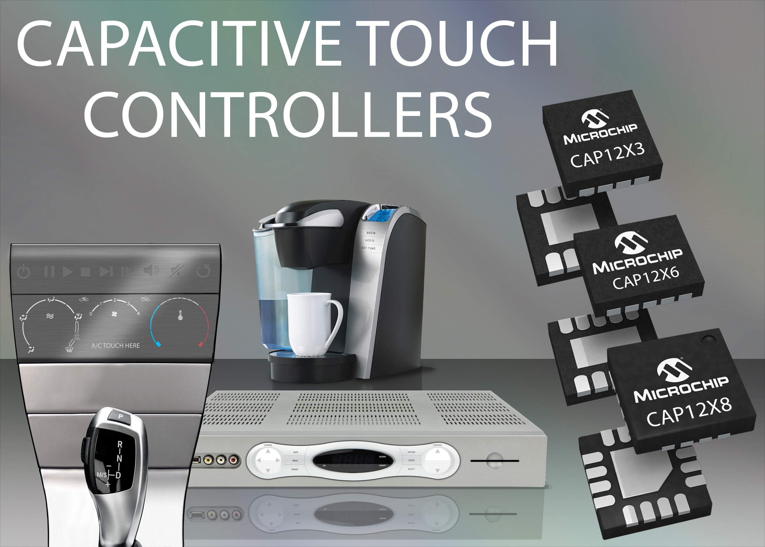 Microchip expands capacitive-touch control portfolio with a robust turnkey solution