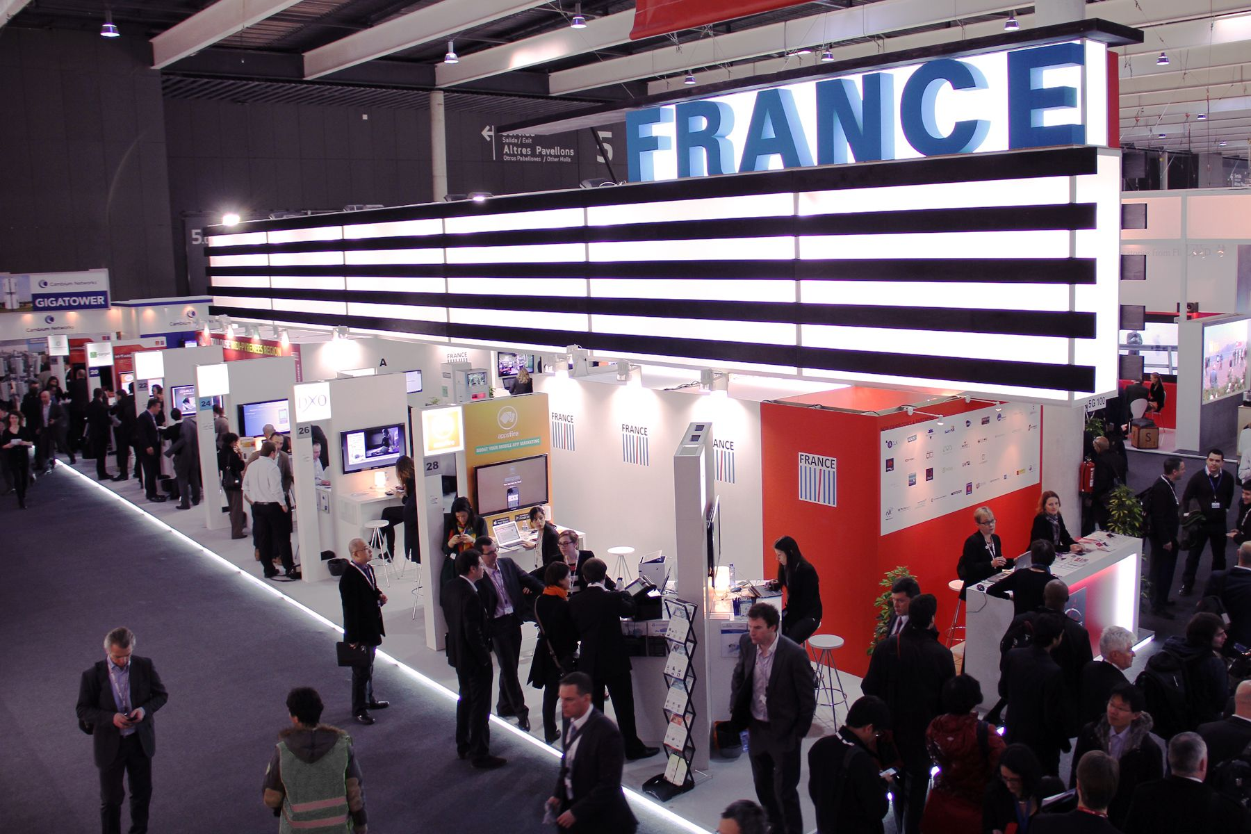 French Pavilion brings 100 innovative companies at Mobile World Congress 2014, Barcelona
