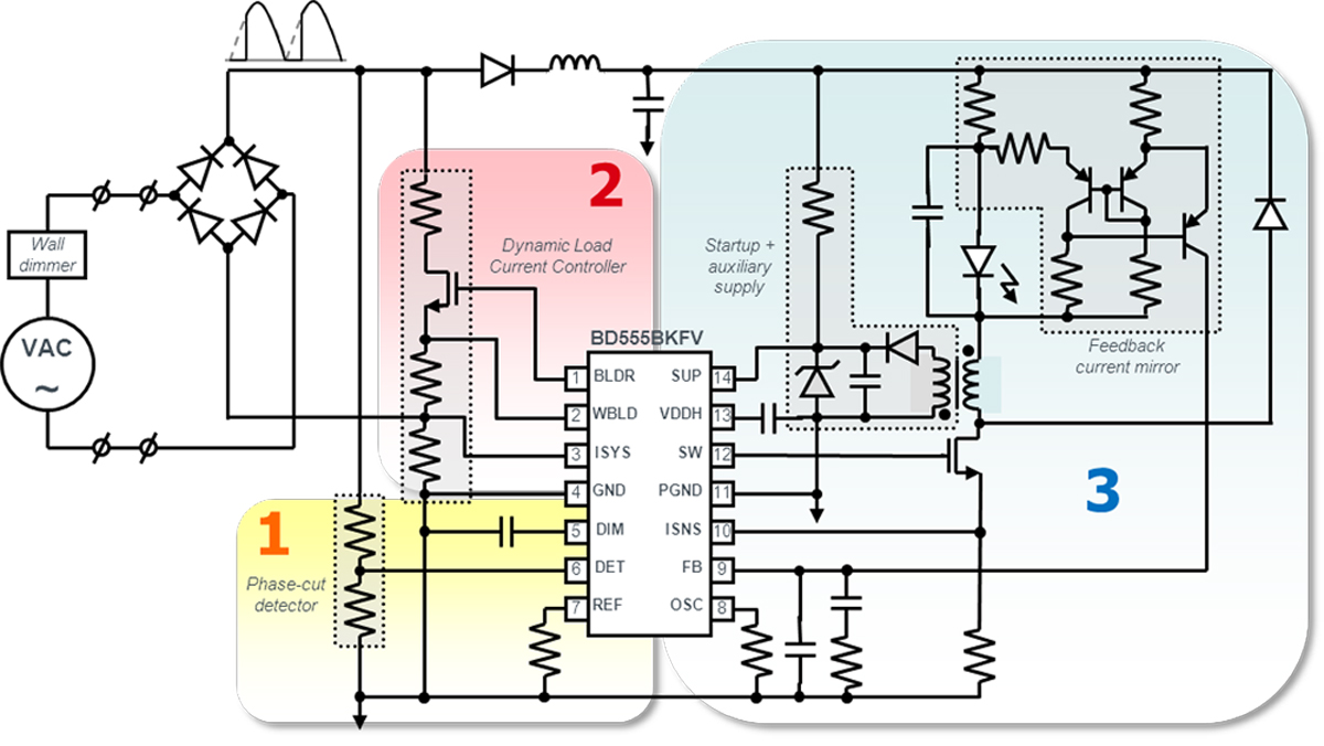 Controller Ic For Dimmable Led Lighting Electronics Maker Light Dimmer Circuit Diagram 01 Application