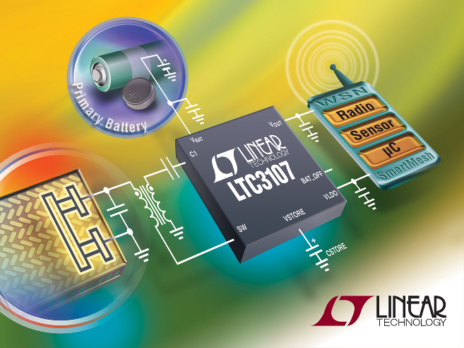Ultralow Voltage Step-Up Energy Harvester & Power Manager IC  Extends Useful Life of Primary Batteries in WSNs