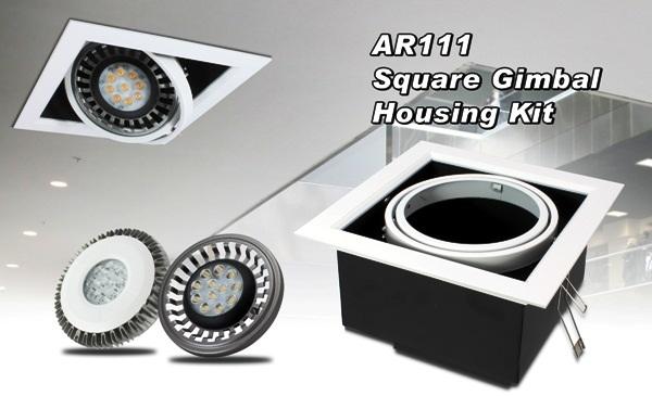 GlacialLight Introduces AR111 Square Gimbal Housing Kit