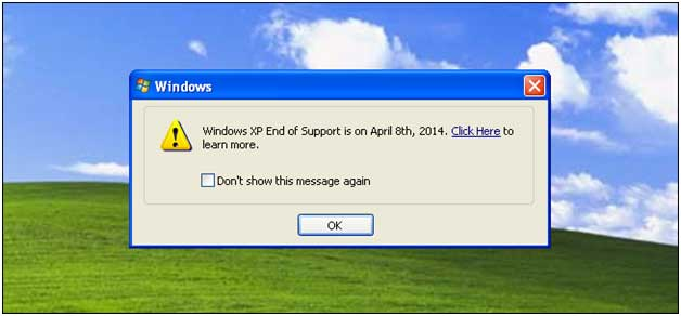 Microsoft Support for Windows XP ends on 8th April 2014