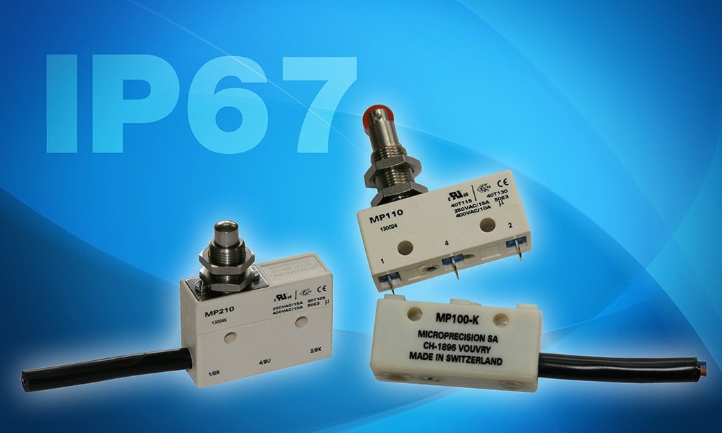 Microswitches Offering Many Sealing Possibilities for Industrial Applications now Qualified under UL61058