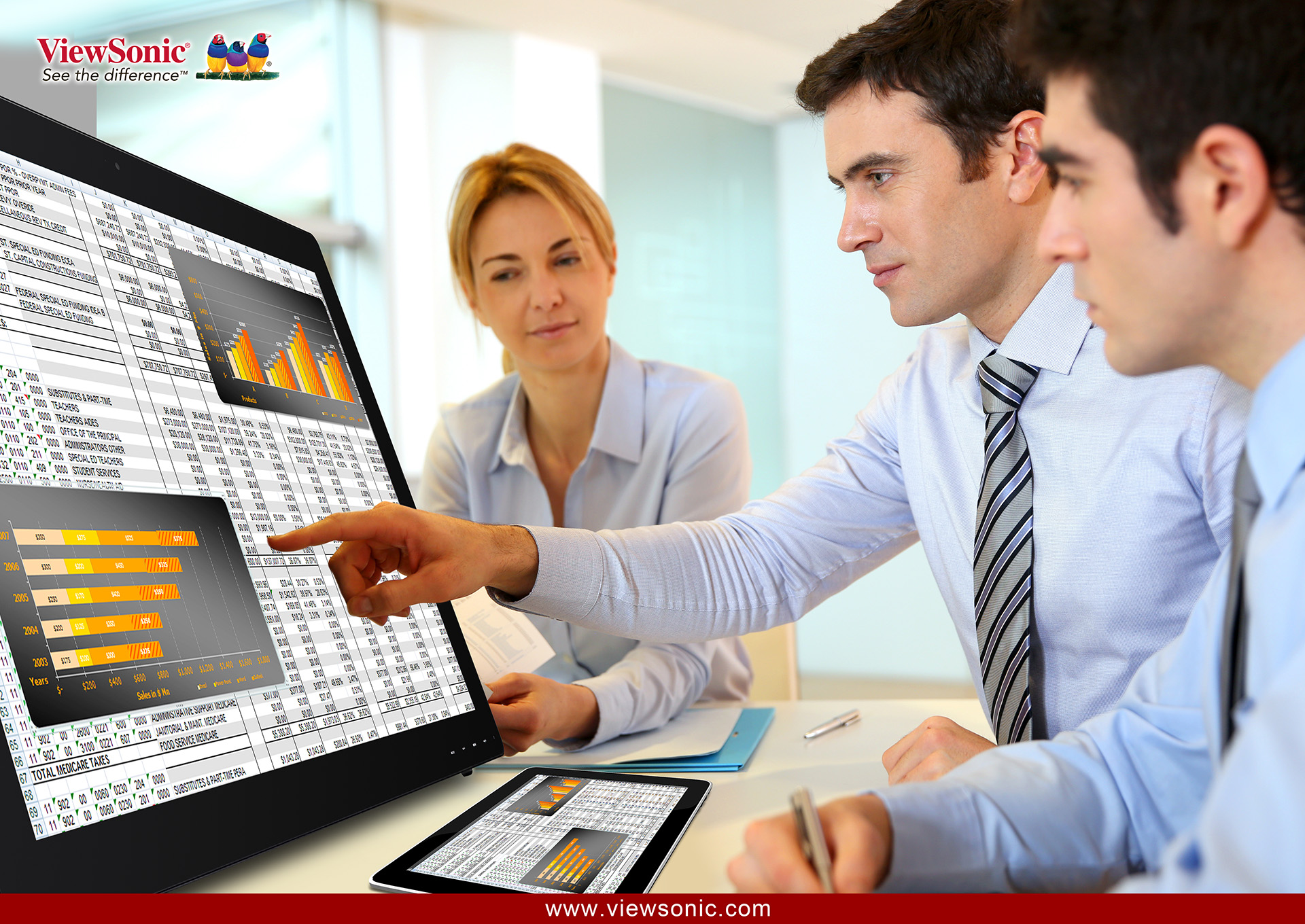 New Touch Screen Display series from View Sonic with innovative multi-touch  technology