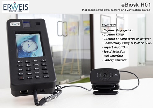 The portable and Cost-Effective Internet Enabled Biometric Handheld Device