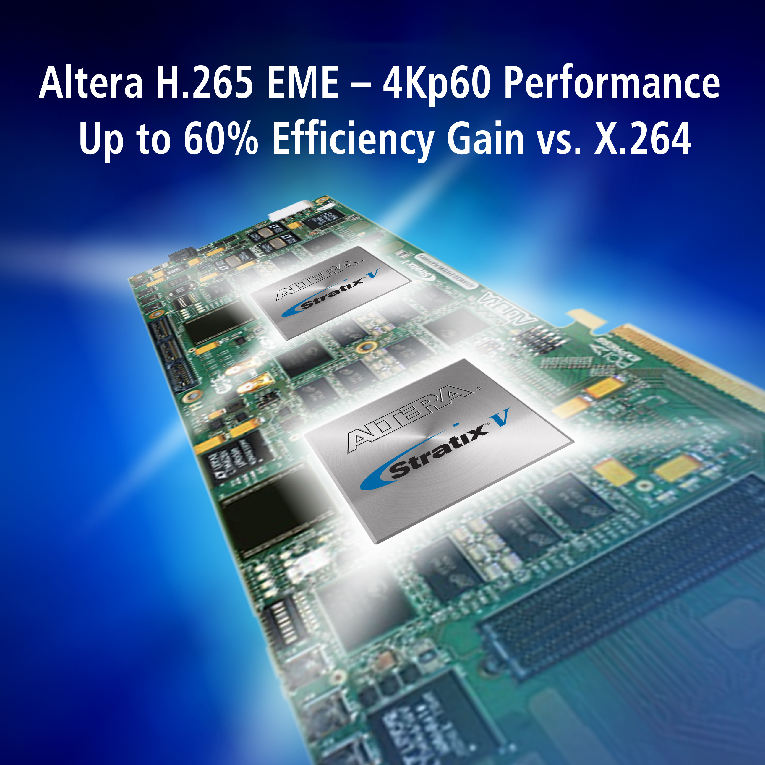 Altera H.265 4Kp60 Video Encoding selected by Harmonic