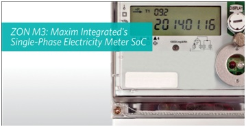 Maxim Integrated SoC Single Phase Metering Solution enables low cost and highly accurate designs