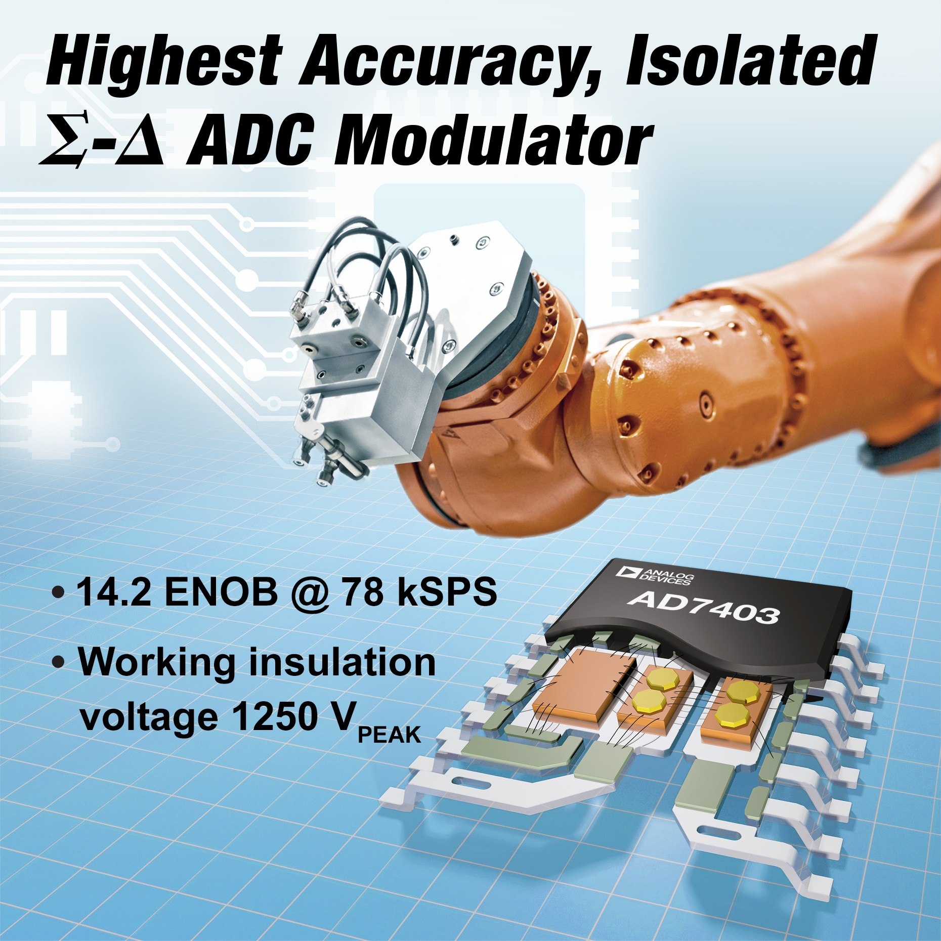Highest Accuracy Isolated Sigma-Delta Modulator Increases Efficiency of Motor Drives and Power Inverters