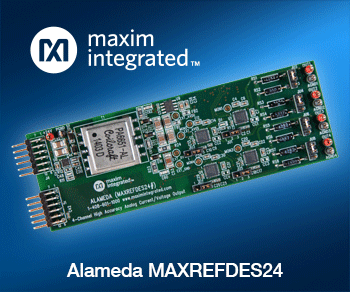 Design Accurate Voltage and Current Outputs with the Maxim Alameda Reference Design Exclusively at Mouser