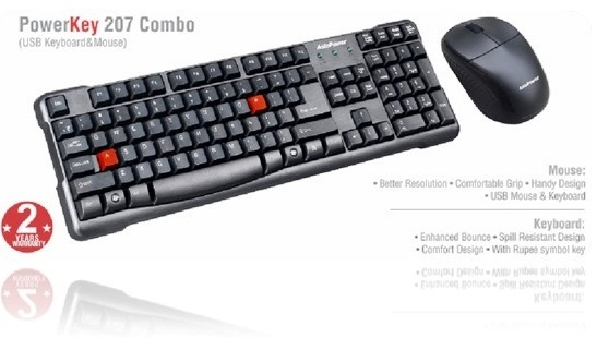 Asia Powercom plunges into PC peripherals segment, launches the first PowerKey 207 Combo USB Keyboard and Mouse