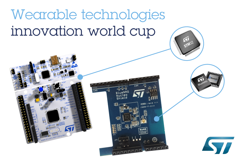 STMicroelectronics, a Connected-Device Leader, Again Named  Title Sponsor of Wearable Technologies Innovation World Cup