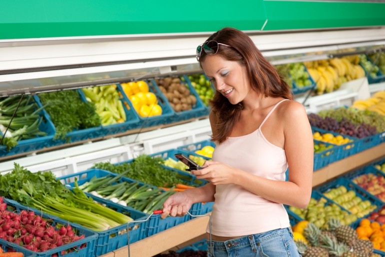 Philips is using LED lighting to help supermarket customers find products