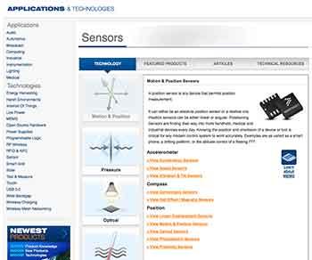 Mouser Advances Sensor Technology Site