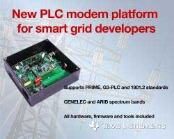 Texas Instruments creates new power line communication (PLC) modems to support all three major standards across multiple spectrum bands