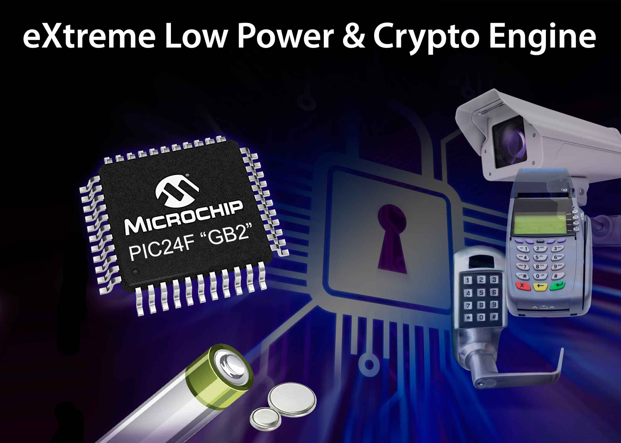 Microchip expands XLP Low-Power PIC® microcontroller portfolio with integrated hardware encryption engine