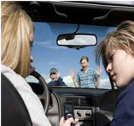 Electronics in vehicles with care