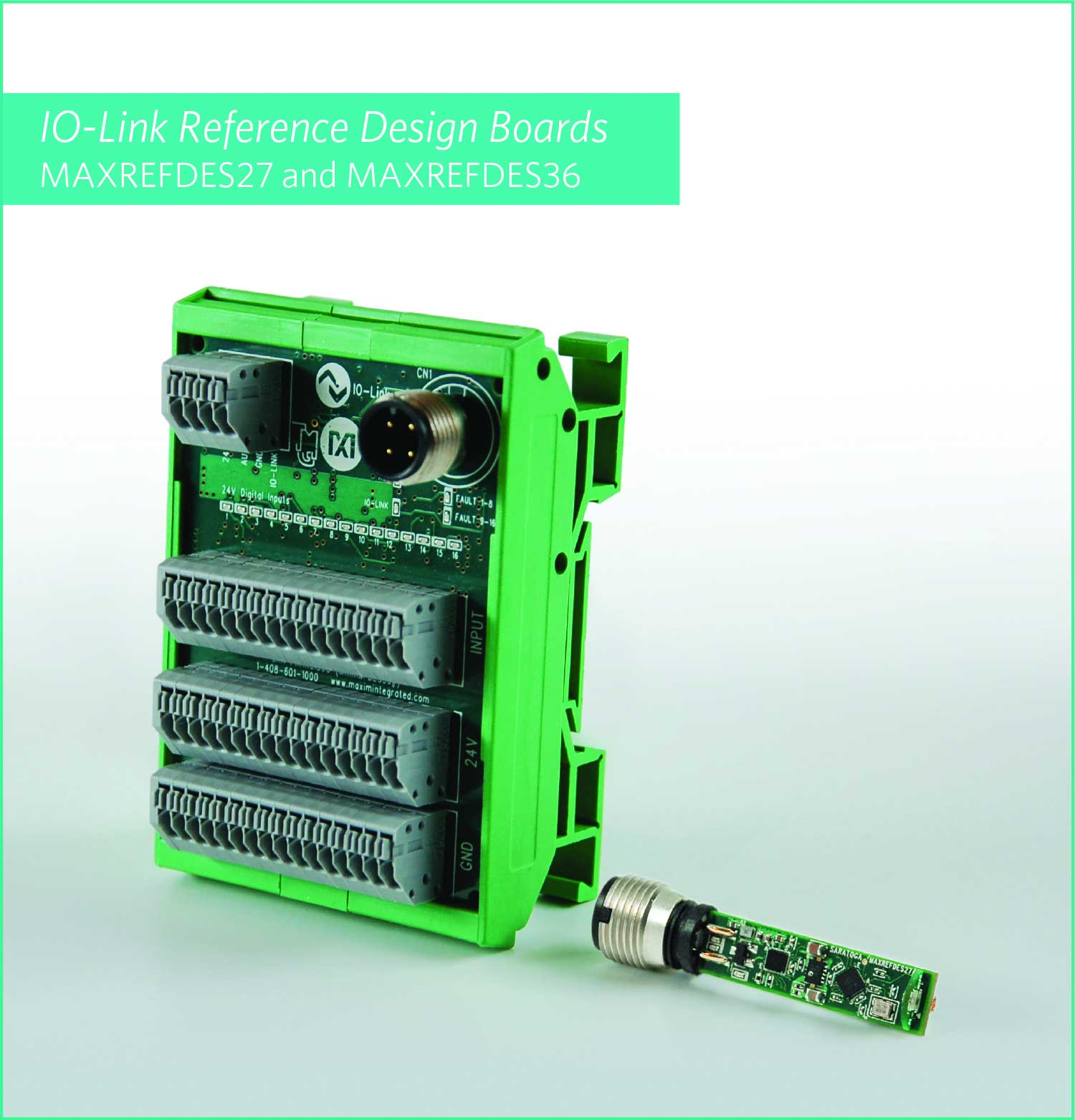 Maxim Integrated Introduces Two IO-Link Reference Designs for Optical Proximity Sensing and Enhanced Distributed Control