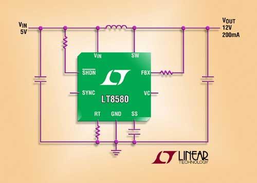 1A, 1.5MHz, 65V Boost/Inverter DC/DC Converter