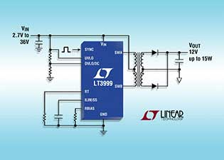 Linaear Technology monolithic push-pull isolated DC/DC transformer driver