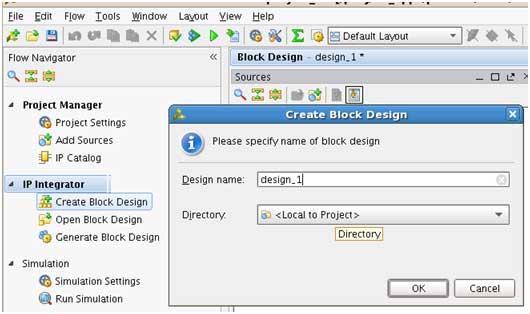 Figure 2: Create BD design