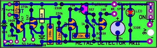 metal detector pcb design.