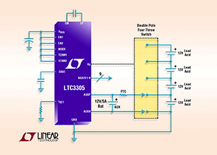 Stand-Alone Lead Acid Battery Balancing IC Works with up to Four 12V Batteries in Series