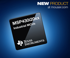 Mouser Now Stocks TI MSP430i202x/3x/4x MCU Has Four 24‑bit ADCs