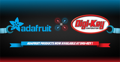 Adafruit Dev Kits and Prototyping Products Available from Digi-Key
