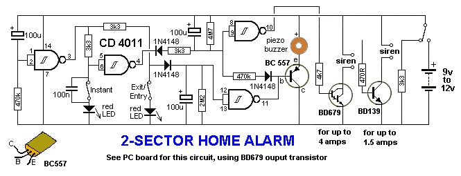 house alarm circuit