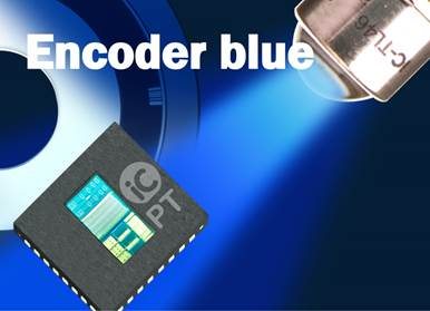 Innovative Single-Chip Optical Encoders by using blue LEDs
