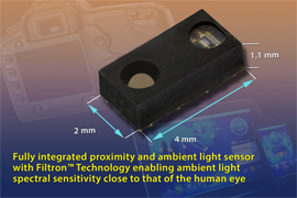 Vishay Intertechnology Launches Fully Integrated Proximity and Ambient Light Sensor
