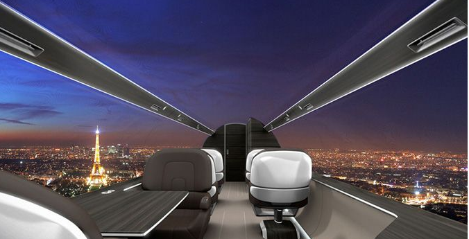 Windowless Aircraft – Future inspired by fantasy