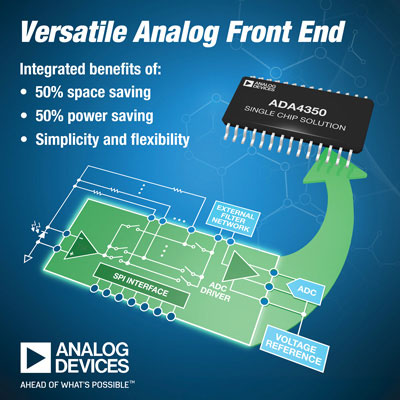 Integrated Analog Front-end Simplifies Sensor Interfaces