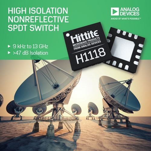 Analog Devices Silicon SPDT Switch Delivers Fast Settling Time for  Demanding Test and Measurement Applications