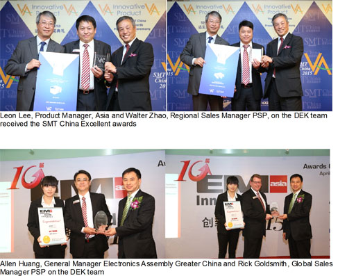 ASM printing specialist scores four awards for innovative technologies at Nepcon Shanghai 2015
