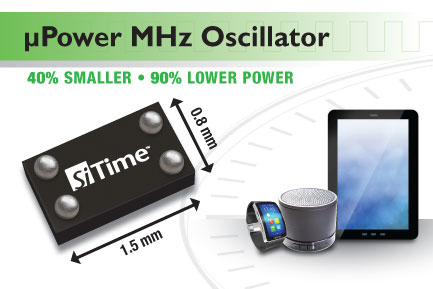 SiTime Sets New Benchmarks in Oscillator Power, Size and Weight