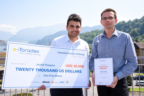 Toradex announces the latest winners of its Embedded Design Challenge