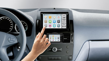 how to clean infotainment screen