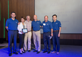 Mouser Electronics Wins the High Service Distributor of the Year Award in Asia from KEMET