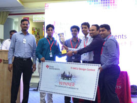 Texas Instruments conducts the TI MCU design contest 2014-2015  Showcasing the best engineering innovation