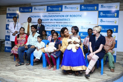 Robotics Helped Apollo Children's Hospital Transform the Lives of 65 Children from India and Abroad