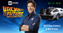 "Mouser and Grant Imahara Drive Innovation with  ""Back to the Future"" Inspired Contest"