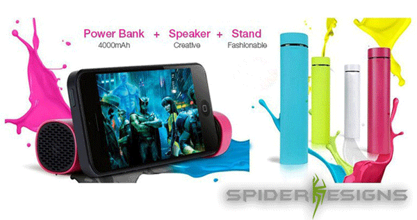 Power Jam cum Stand for Mobiles  by Spider Designs