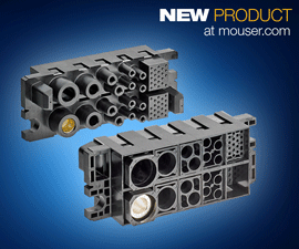Mouser Now Shipping TE Connectivity's  Modular High-Power FORGE Drawer Connectors