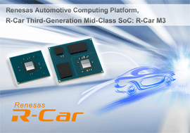 Renesas Electronics Introduces Two Versions of Third-Generation R-Car Starter Kits